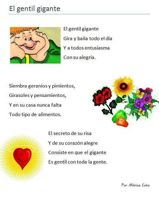 """Poema infantil. Uso del sonido suave de la """"g"""". Bilingual Education"""