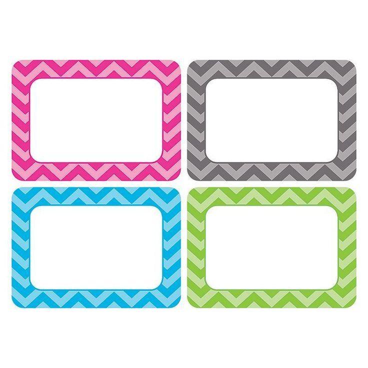 Chevron Name Tags - Multi Pack