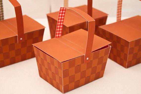 PICNIC BASKET Favor Box  Printable by piggybankparties on Etsy, $8.00