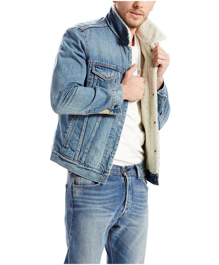 Exceptionnel Les 25 meilleures idées de la catégorie Sherpa denim jacket mens  CG34