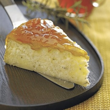 Rosemary Brie Cake with Peach Preserves