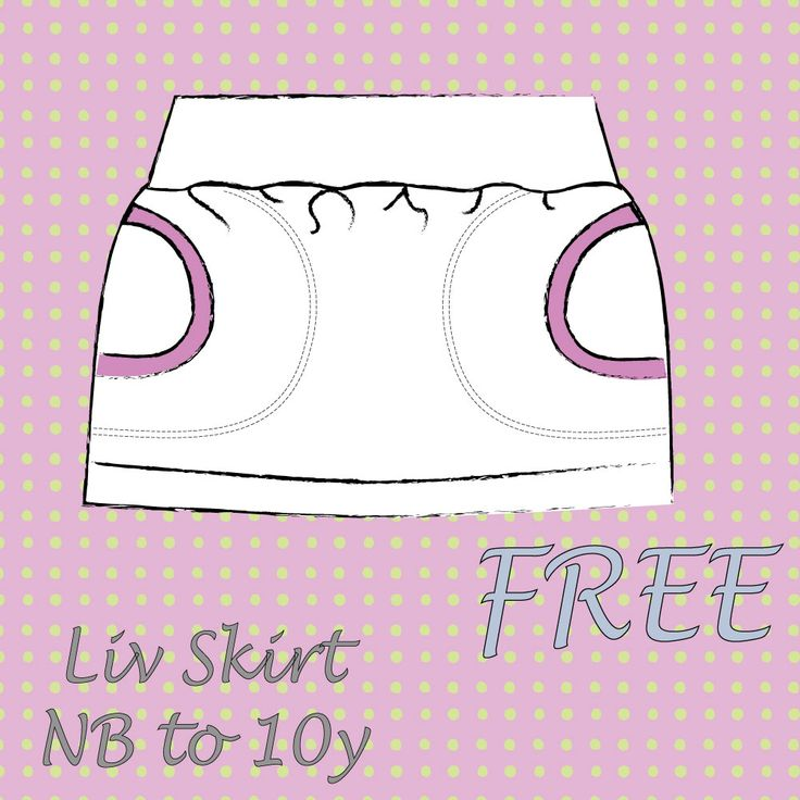 LIV skirt sizes NB to 9/10 EN | Sofilantjes Patterns FREE PATTERN
