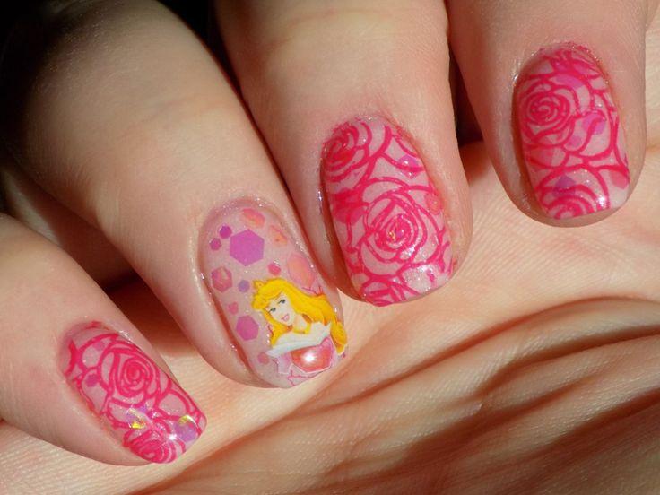 Pink Princess Aurora Nails