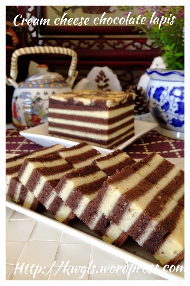 Сливочный сыр Шоколадный торт из лапши (巧克力 奶酪 千层 蛋糕)