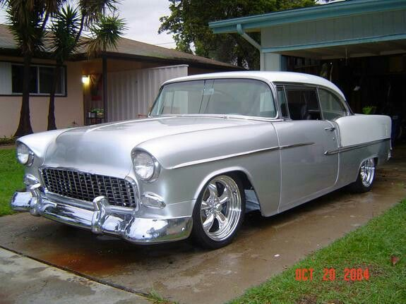 55 Chevy bel air rode many miles with James in one of these.  His was black