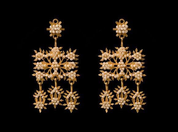 gioielli sardi, orecchini a palia