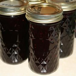 Blackberry Syrup Recipe ~ uses pectin for a thicker set to your syrup! {note to self: cut sugar by a half cup or more, add 1 T lemon juice, 1 T butter, & a little extra pectin, maybe a full 1/2 box pwdrd or pouch of liquid}