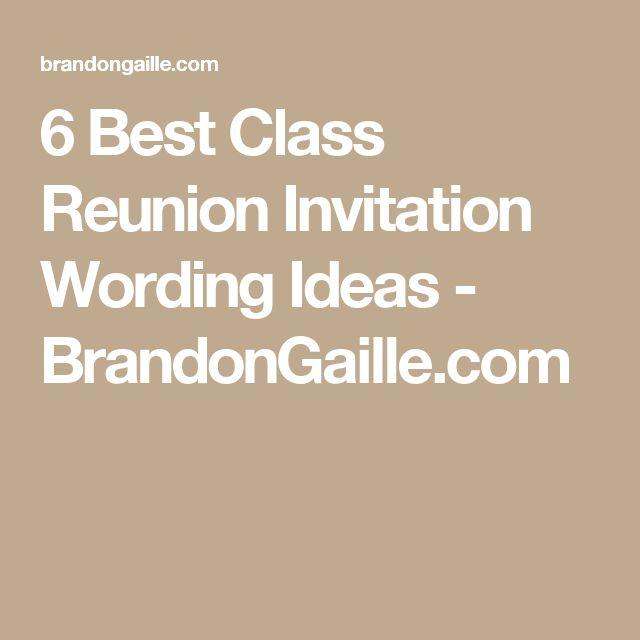 die besten 25+ einladung klassentreffen ideen auf pinterest, Einladung
