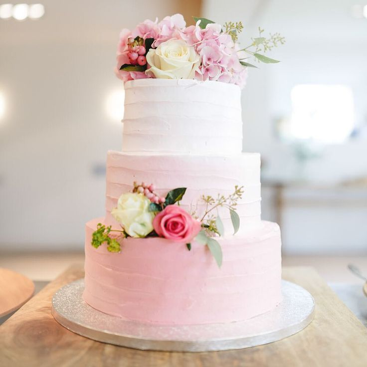 Pink ombré cake perfection link in profile