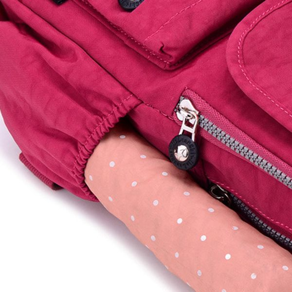 Women Nylon Multi Pockets Backpack Girls Casual Shoulder Bags Outdoor Sports Rucksack