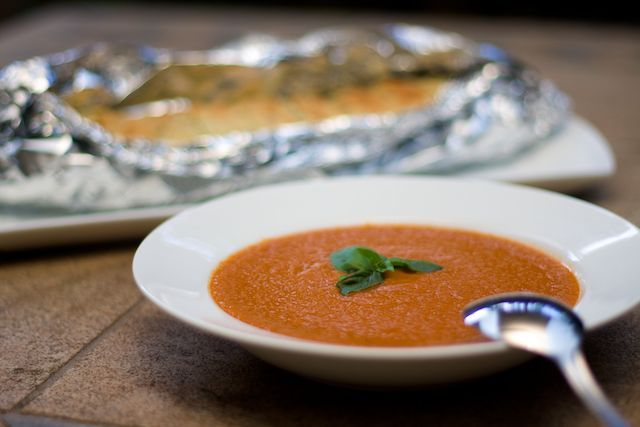 The Opies: Family Food: Roasted Tomato & Basil Soup