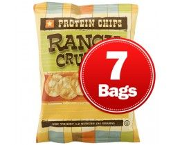 BariWise Protein Potato Chips, Ranch - 7 Bags Sale Price: $10.95 Price: $12.95   Save: $2.00 (15%)