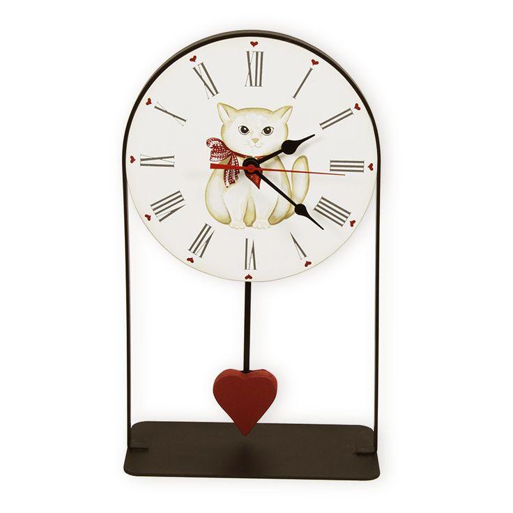 13 best Gatto Gattino images on Pinterest Clock wall, Large wall - wanduhr für küche