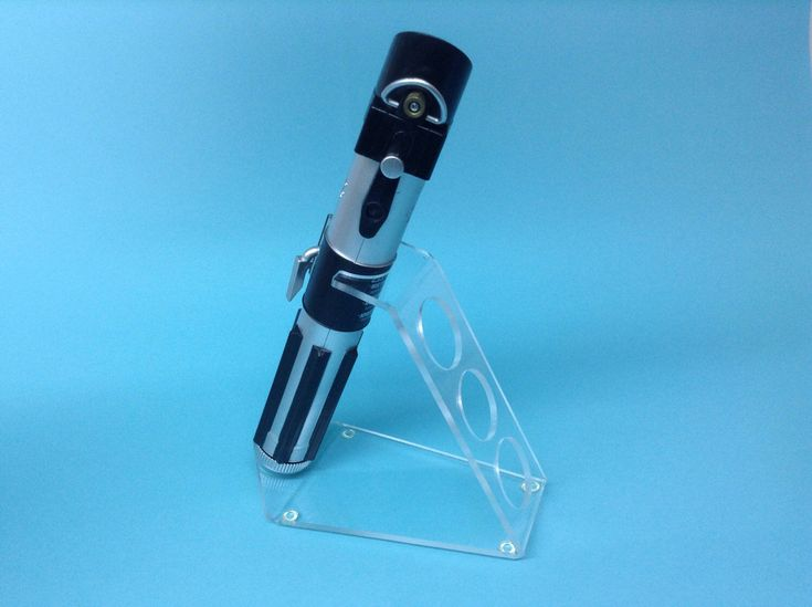Excited to share the latest addition to my #etsy shop: Lightsaber holder/stand/hilt only/70 degree desktop style/clear acrylic for Master Replicas and others. Cat #1007 #collectibles #starwarsprops #desktoplightsaber #lightsaberholder #lightsaber #starwars #sciencefiction