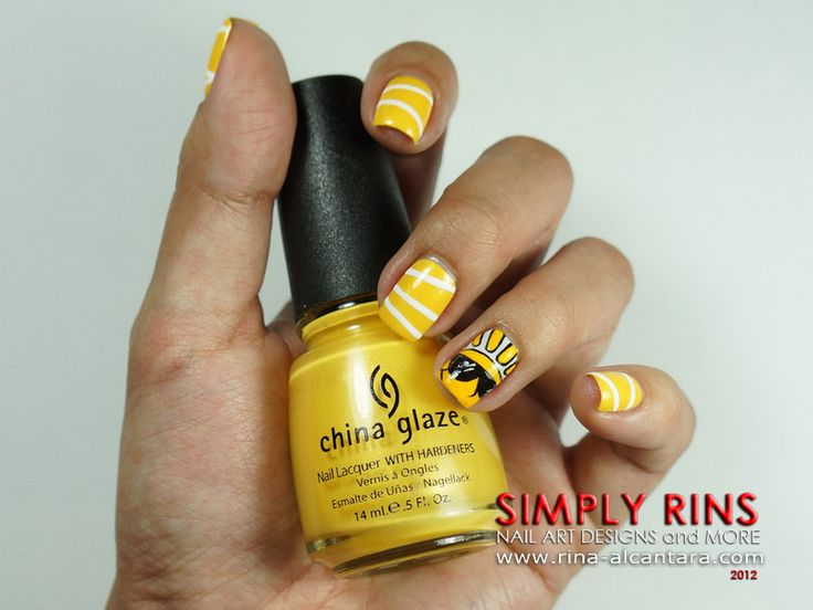 Here Comes the Sun Nail Art Design. Bright yellow outline sun nail art for  summer - 61 Best Summer Nail Art Images On Pinterest Summer Nail Art