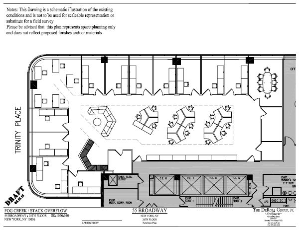Floorplan of Stack Overflow office