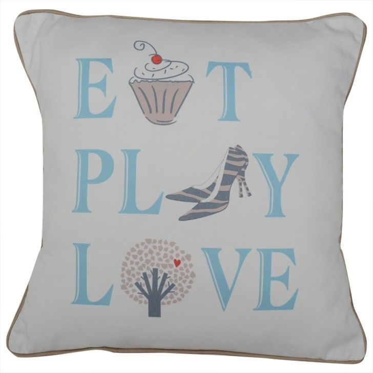 CUSHI   Eat, Play, Love Cushion #pillow #cushion #homedecor