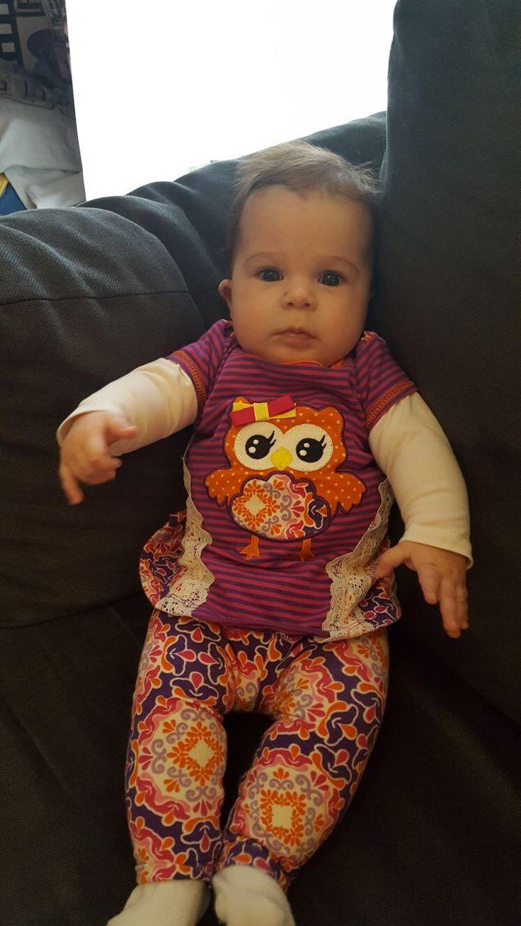 Legging Set Eule. Gefunden auf Dreamdress.  #baby, #babymode, #leggingSet, #babyfashion, #babydress
