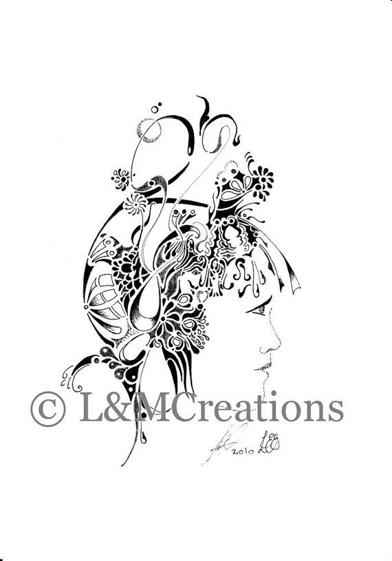 PERSONALISED DRAWING  Personalised by LoesManfredCreations on Etsy