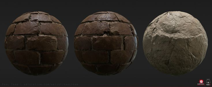 Clay Bricks - Procedural Material, Paul Tran on ArtStation at https://www.artstation.com/artwork/q21Pa
