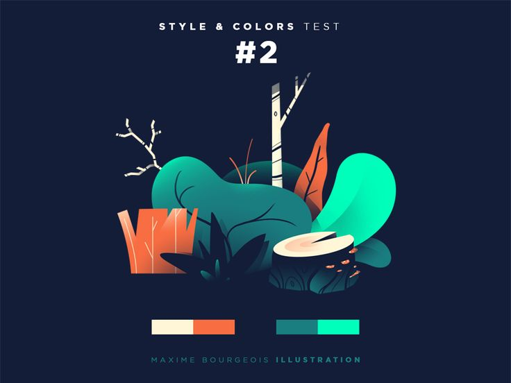 Style & Colors: Flora by Maxime Bourgeois - Dribbble