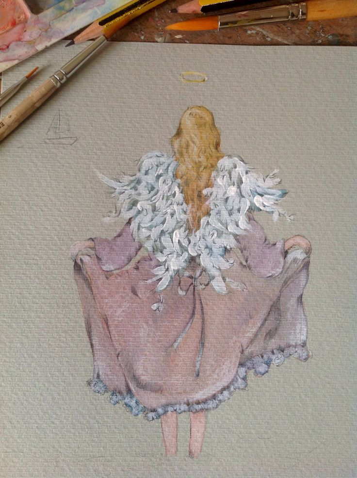 Angel watercolor