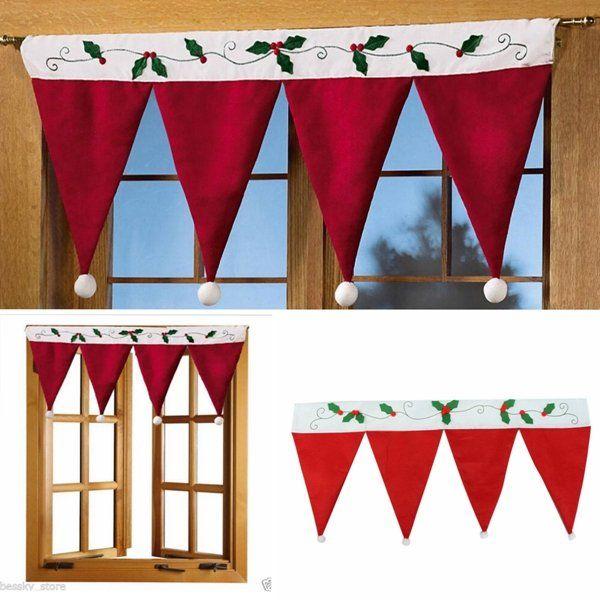 Christmas Xmas Door Window Hanging Bunting Banner Hat Curtain Christmas Decoration at Banggood sold out