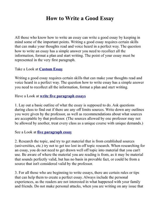Who To Write A Essay - Vision professional