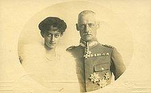 RUPPRECHT DI BAVIERA CON LA SECONDA MOGLIE ANTONIA DEL LUSSEMBURGO SPOSATA NEL 1921.FU PRINCIPE EREDITARIO DALLA NASCITA NEL 1869 ALLA CADUTA DEL REGNO NEL 1918.DA QUESTO MATRIMONIO 6 FIGLI