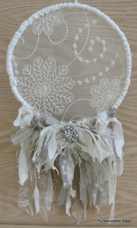 Shabby Chic Dream Catcher Vintage Fabrics Lace by PursenicketyBags