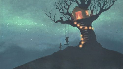 Childhood MagicMagic, Treehouse Lights, Dreams, Trav'Lin Lights, Tree Houses, Art, Trees House, Kids, Childhood