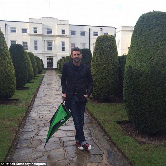 Confirmed! Patrick Dempsey divulged detailed about filming the next Bridget Jones movie London as he shared this photo on Wednesday
