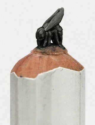 Best Pencil Carvings Images On Pinterest Pencil Art Pencil - Artist carves miniature pop culture sculptures into pencils