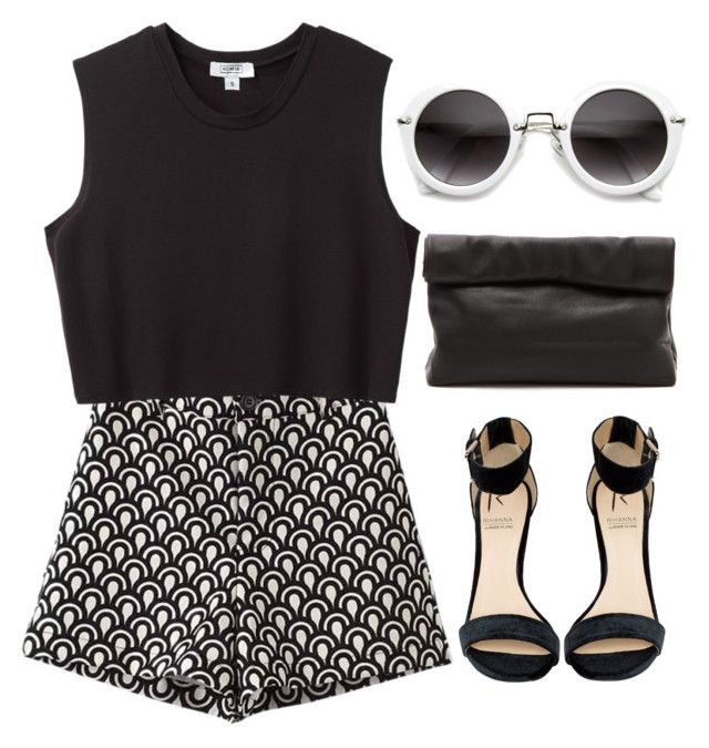 Black &White by lilyyy24 on Polyvore featuring Nomia, Chicnova Fashion, Rihanna For River Island and Marie Turnor