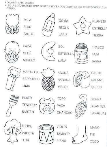 Free Spanish Resources for word work and phonics