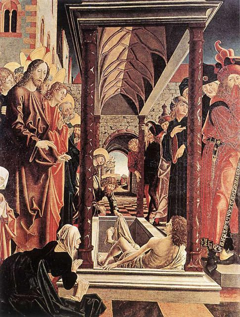 MIchael Pacher (1430-1498) Resurrection of Lazarus. St. Wolfgang Altarpiece ●彡