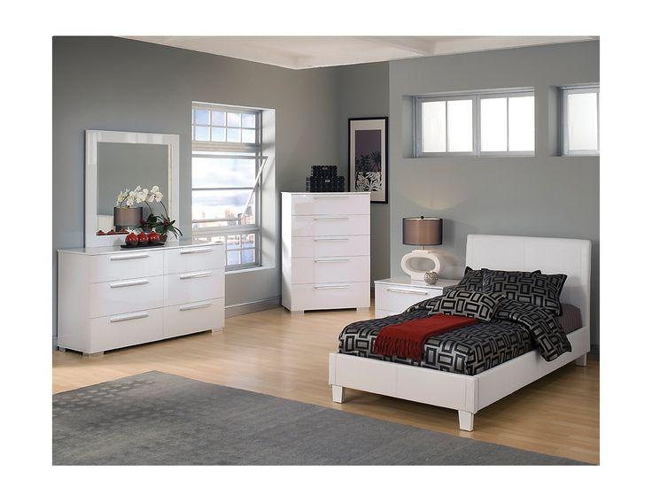 the brick white bedroom set 2