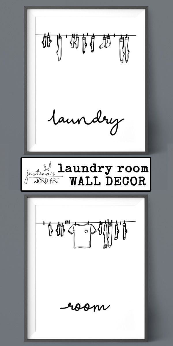 Laundry Room Decor Printable Artwork Set Of 2 Prints Digital
