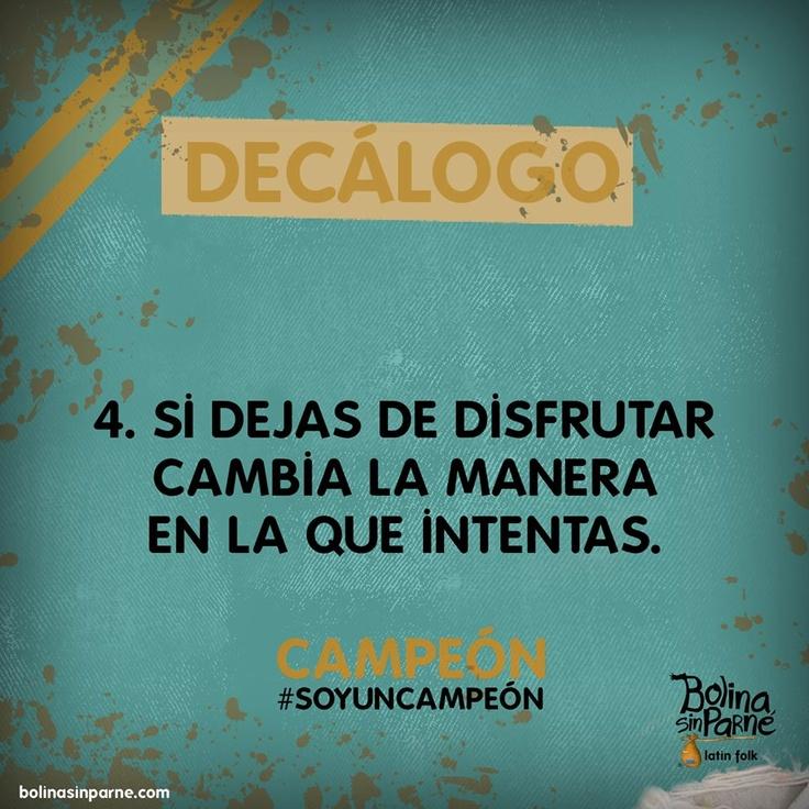#4 | Decálogo Campeón