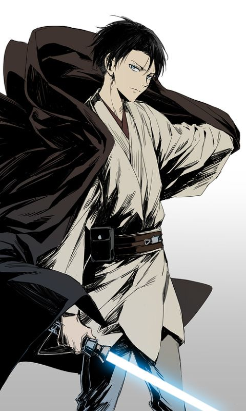 Levi Ackerman (Rivaille) jedi / Star Wars  - Shingeki no Kyojin / Attack on Titan