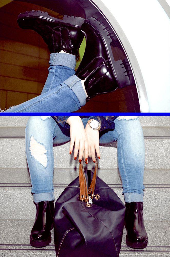Mit Karohemd und Boots zum Rocker-Look. In Kombination mit Boots ein Must-have. #fashion #magmag #alleecenter #magdeburg #look #rockig #karohemd #musthave