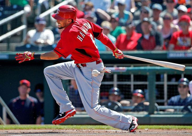 The 10 worst hitters of 2017 (so far)  -  April 28, 2017:     Cincinnati Reds' Billy Hamilton grimaces after fouling a pitch off his foot during the first inning of a spring training baseball game against the Cleveland Indians Tuesday, March 17, 2015, in Goodyear, Ariz.