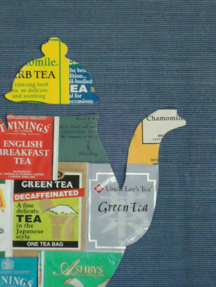 cute!  save tea packages, glue together and cut in the shape of a teapot!