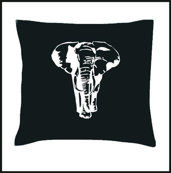 Africa Elephant Cushion Cover by Pokkki on Etsy,