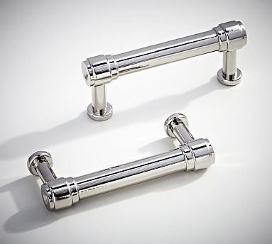 Modern Bath Sink Console Pull, Set Of Polished Nickel Finish