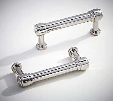 modern bath sink console pull set of polished nickel finish