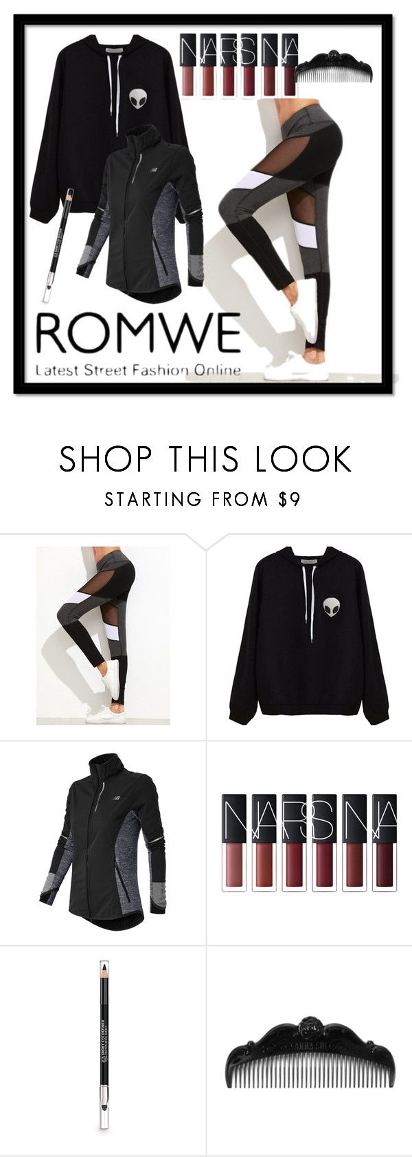 """""""leggings"""" by kkateyg on Polyvore featuring New Balance, The Body Shop and Anna Sui"""