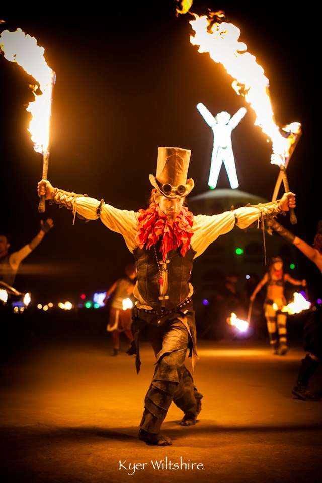 Heathen Strangefellow & the Vaudeville Vagabonds www.mythmaker.ca Circus carnival vaudeville steampunk dark live music cabaret. nostalgic noir vintage fire dancing burlesque freakshow at Burningman