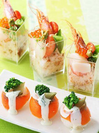 彩りカップ寿司&手まり寿司