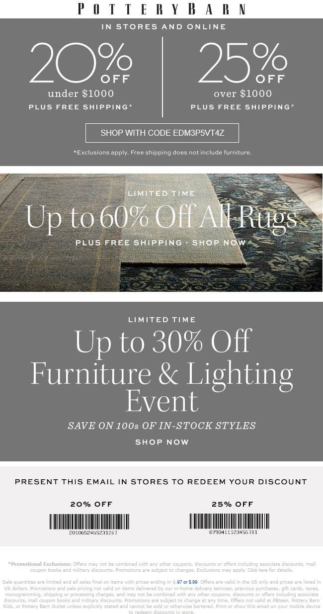 Pottery Barn Coupons Shopping Deals Shopping Coupons